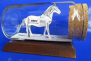 horse lovers gift, a horse sculpture made of business cards