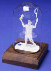 tennis player sculpture gift