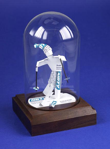 downhill skier gift sculpture