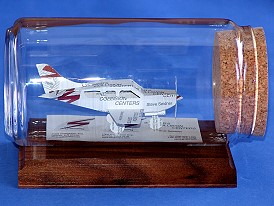 pilot gift airplane business card sculpture