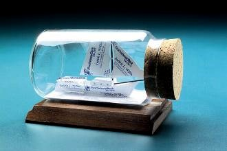 sailboat in a bottle gift