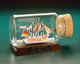 Ship in a bottle, a clipper ship gift
