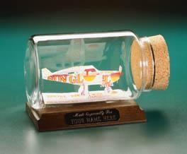 single engine plane sculpture